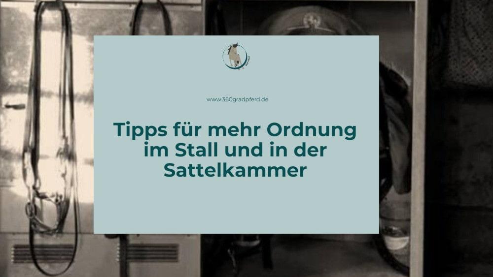 Tipps für mehr Ordnung im Stall und in der Sattelkammer