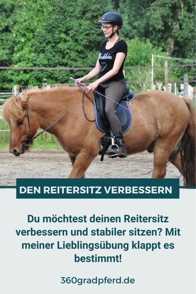 Reitersitz verbessern und stabiler sitzen mit der imaginären Kugel