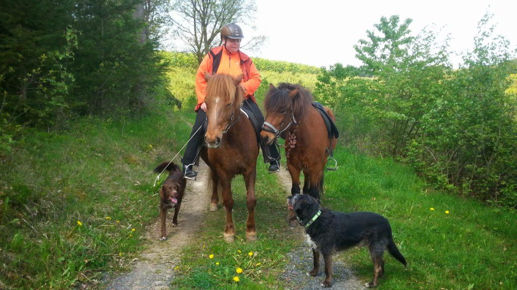 Auch blind kann man reiten das beweist Alexandra Schwarzer hier auf ihrer Stute Elding