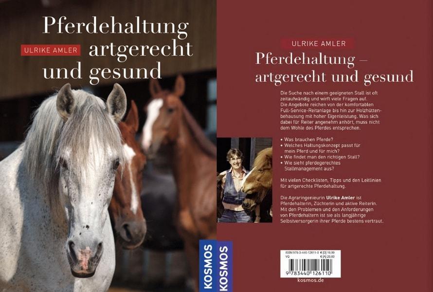 Buchcover Pferdehaltung artgerecht und gesund von Ulrike Amler, erschienen beim Kosmos Verlag