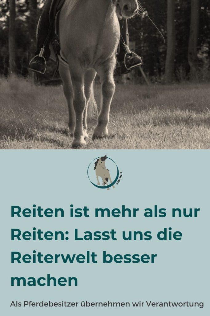 Lass uns gemeinsam die Reiterwelt besser machen indem wir uns Weiterbilden und unsere Pferde so fair wie möglich behandeln
