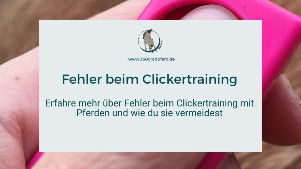 Fehler beim Clickertraining mit Pferd vermeiden