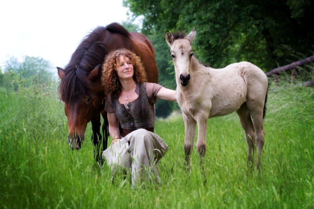 Katharina, Lukka und ihr Fohlen Oshún
