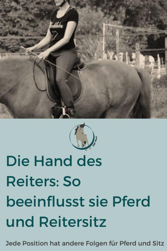 So beeinflusst die Hand des Reiters den Sitz und das Pferd
