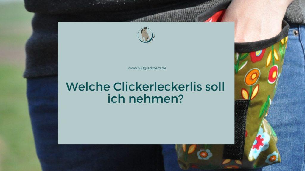 Clickerleckerlis fürs Pferd: Eine Auswahl gesunder Möglichkeiten des Futterlobs