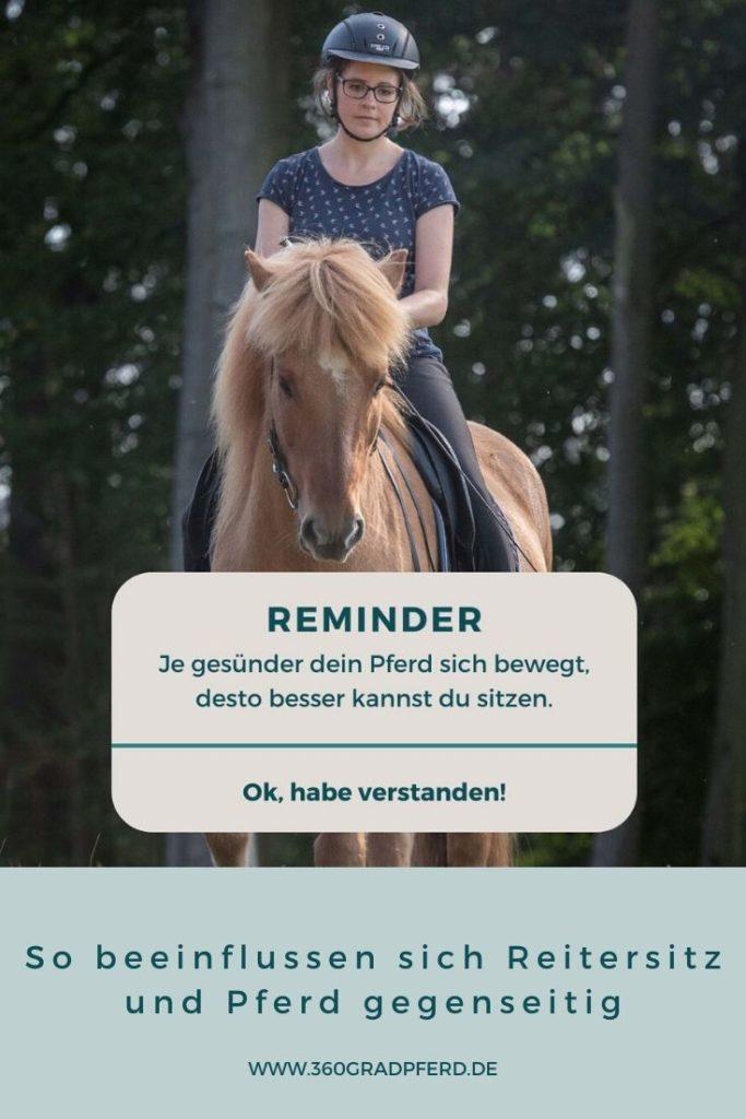 Reminder Reitersitz und Pferdegesundheit