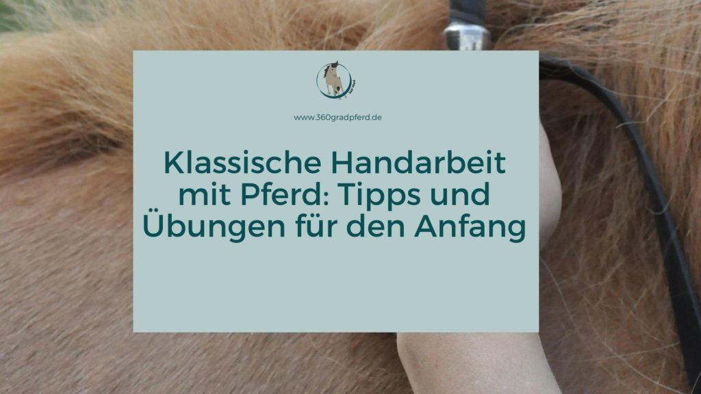 Klassische Handarbeit mit Pferd