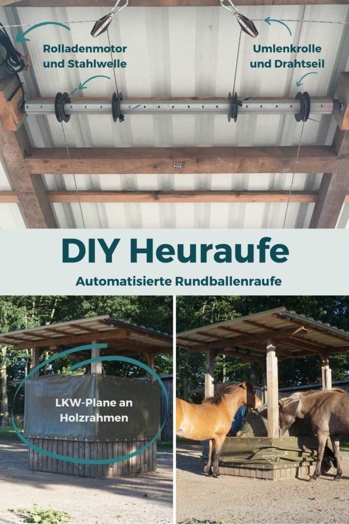 Automatische Heuraufe für Pferde selber bauen